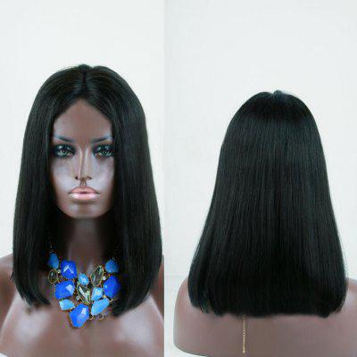 Medium Center Parting Shoulder Length Straight Bob peruca sintética