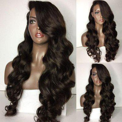 Long Side Part Loose Body Wave Laço Frente Peruca de cabelo humano