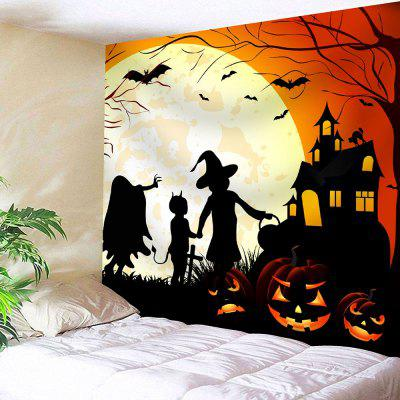 Buy COLORFUL Halloween Moon Night Evil Pumpkin Waterproof Tapestry for $19.26 in GearBest store