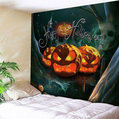Buy COLORFUL Waterproof Halloween Pumpkin Night Forest Tapestry for $19.26 in GearBest store