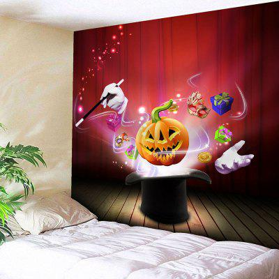 Buy RED Halloween Pumpkin Magic Waterproof Tapestry for $12.27 in GearBest store