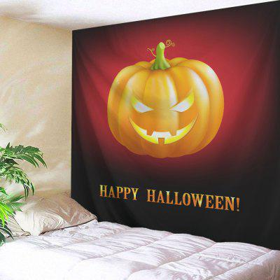 Buy COLORMIX Halloween Pumpkin Print Wall Hanging Tapestry for $14.10 in GearBest store