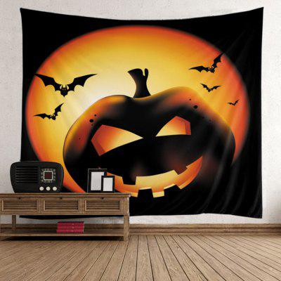 Buy COLORFUL Halloween Pumpkin Batwing Wall Hanging Tapestry for $15.84 in GearBest store