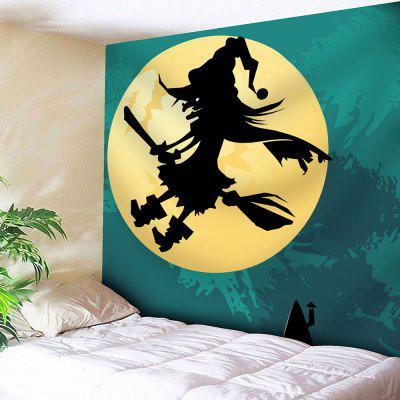 Buy COLORMIX Moon Halloween Witch Waterproof Velvet Tapestry for $9.99 in GearBest store