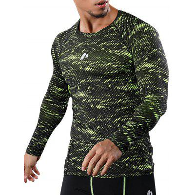 Buy GREEN Camouflage Openwork Panel Quick Dry Gym T-shirt for $10.07 in GearBest store