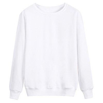 Crew Neck Rib Panel Cotton Sweatshirt