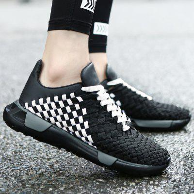 Breathable Plaid Pattern Casual Shoes