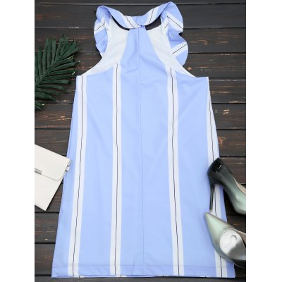 Stripes Half Zip Ruffles Mini DressWomens Dresses<br>Stripes Half Zip Ruffles Mini Dress<br><br>Dresses Length: Mini<br>Embellishment: Ruffles,Zip Front<br>Material: Cotton, Polyester<br>Neckline: Round Collar<br>Occasion: Causal, Day, Going Out<br>Package Contents: 1 x Dress<br>Pattern Type: Striped<br>Season: Summer<br>Silhouette: Straight<br>Sleeve Length: Sleeveless<br>Style: Brief<br>Weight: 0.3000kg<br>With Belt: No