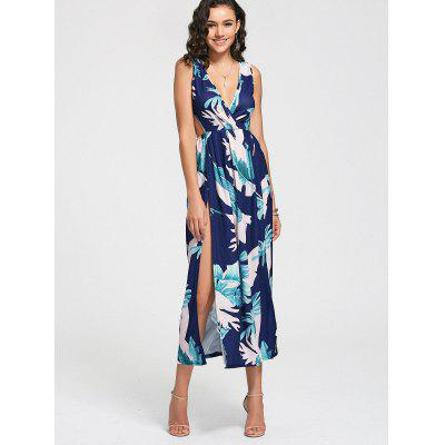 Low Cut Leaves Print High Slit DressMaxi Dresses<br>Low Cut Leaves Print High Slit Dress<br><br>Dresses Length: Ankle-Length<br>Embellishment: Backless<br>Material: Polyester<br>Neckline: Plunging Neck<br>Package Contents: 1 x Dress<br>Pattern Type: Print<br>Season: Summer<br>Sleeve Length: Sleeveless<br>Weight: 0.3400kg<br>With Belt: No