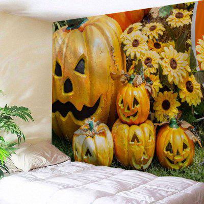 Halloween Grimace Pumpkin Wall Art Tapestry