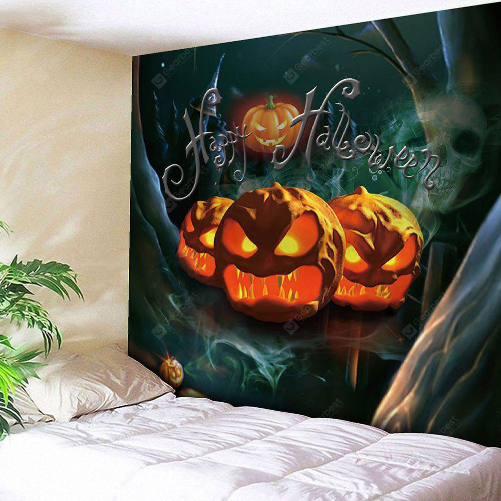 Waterproof Halloween Pumpkin Night Forest Tapestry