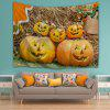 Grimace Pumpkin Halloween Decor Wall Tapestry - LIGHT BROWN