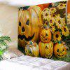 Halloween Grimace Pumpkin Wall Art Tapestry - YELLOW