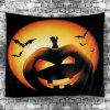 Halloween Pumpkin Batwing Wall Hanging Tapestry - COLORFUL