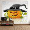 Halloween Pumpkin in Hat Wall Art Tapestry - COLORFUL