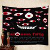 Wall Hanging Art Decor Halloween Evil Eye Print Tapestry - RED