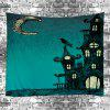 Wall Hanging Art Decor Halloween Night Print Tapestry - GREEN