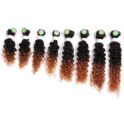 8PCS Cabelo Humano Mixed Synthetic Fiber Caribbean Jerry Cabelo Curly Wefts