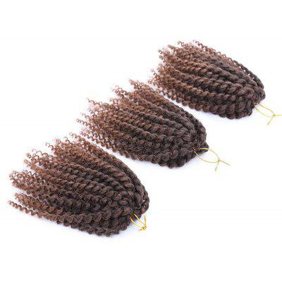 Short Shaggy Afro Curly Mali Bob Braids Synthetic Hair Weft