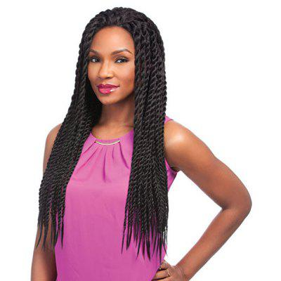 Long Senegal Twists Braided Lace Front Synthetic Wig