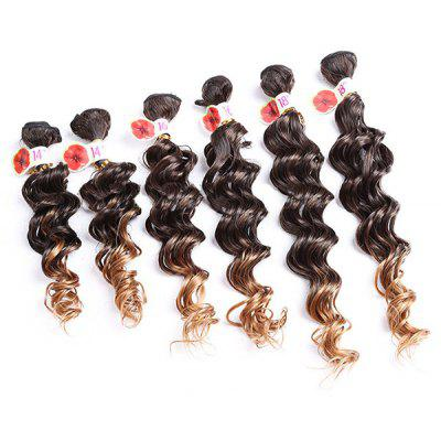 6PCS Colormix Deep Wave Synthetic Hair Wefts