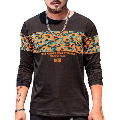 Plus Size Camo Graphic Tee