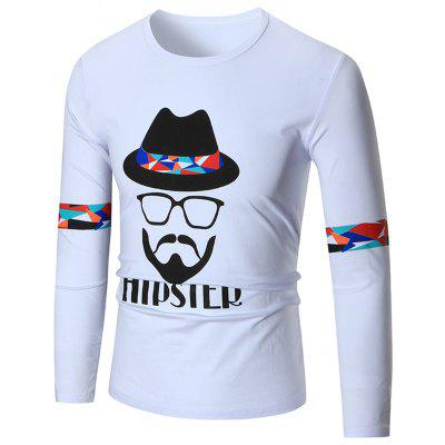 Hipster Graphic Long Sleeve Cool T-shirt