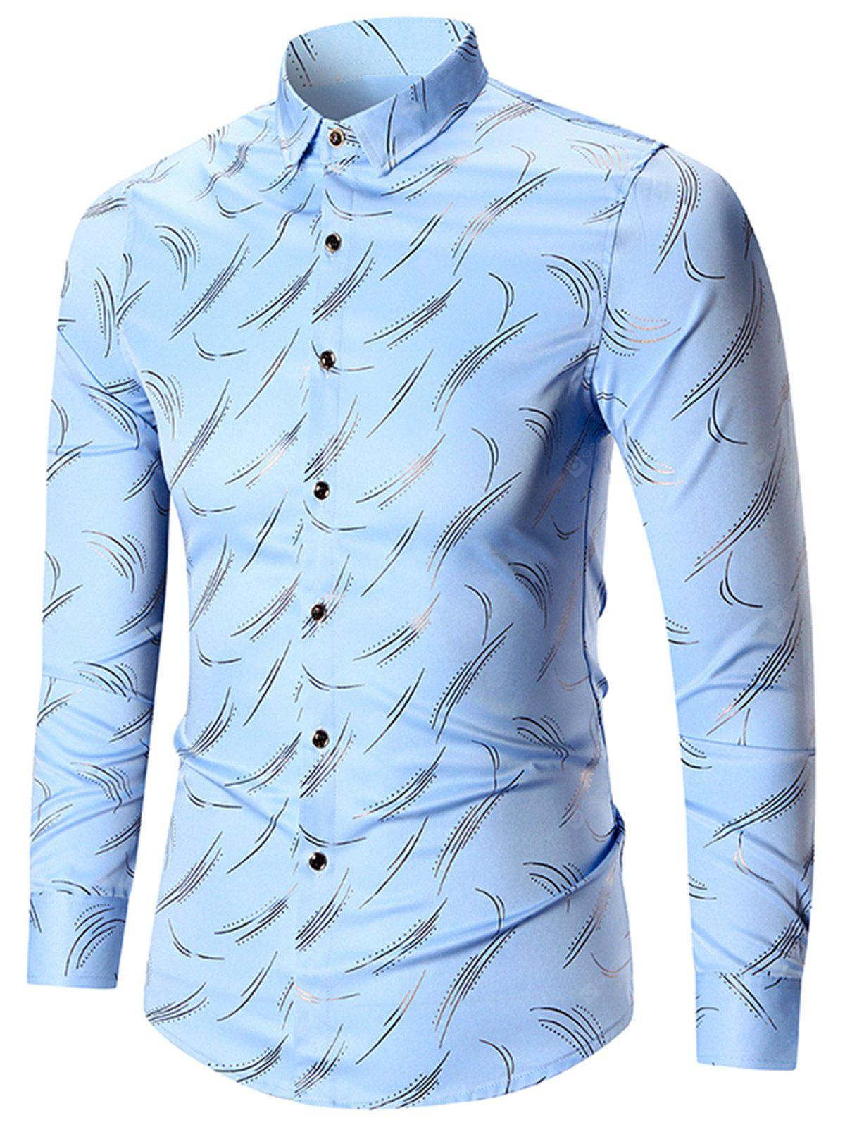 Printed Button Up Plus Size Shirt