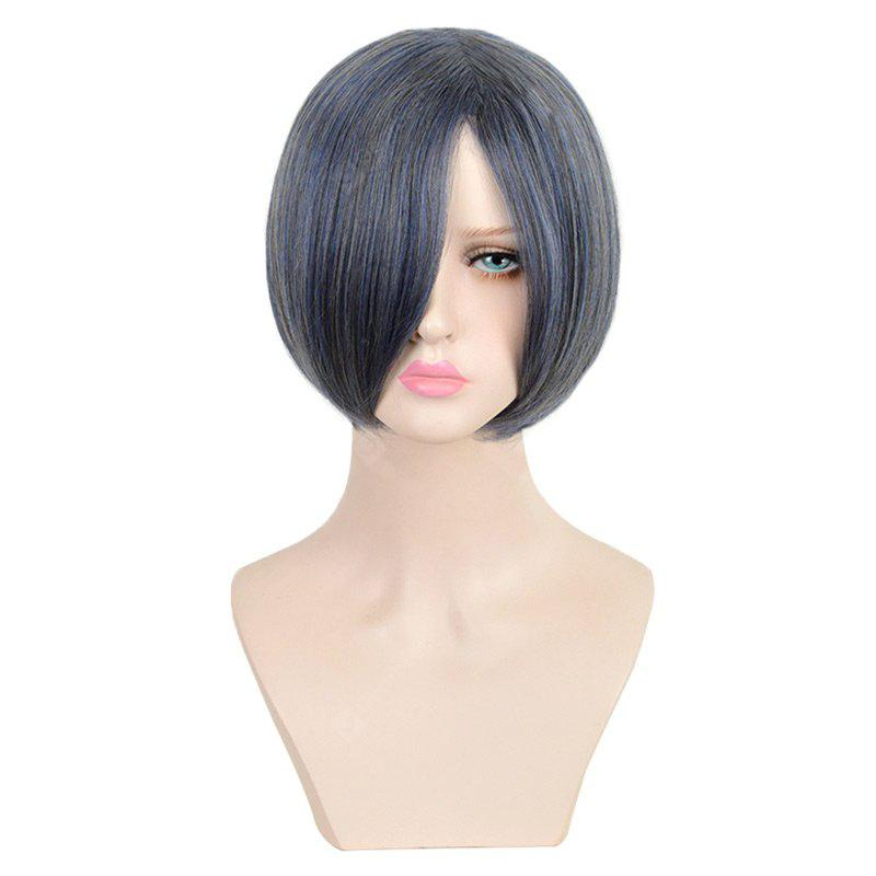 Short Side Straight Colormix Black Butler Ciel Phantomhive Cosplay Wig