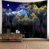 Swan Moon Tree Wall Hanging Tapestry - COLORMIX