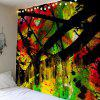 Oil Painting Branch Wood Grain Tapestry - COLORFUL