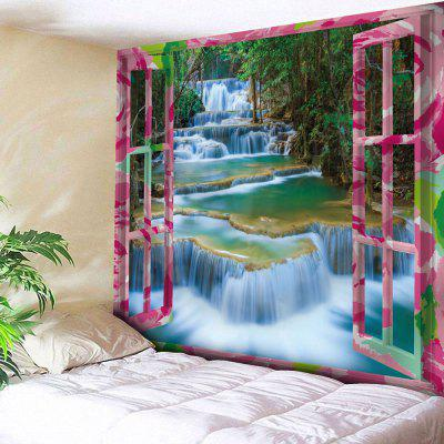 Buy COLORMIX Outside The Window Print Wall Hanging Tapestry for $17.23 in GearBest store