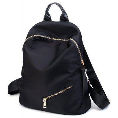 Top Handle Zips Nylon BackpackBackpacks<br>Top Handle Zips Nylon Backpack<br><br>Closure Type: Zipper<br>Gender: For Women<br>Handbag Size: Medium(30-50cm)<br>Handbag Type: Backpack<br>Interior: Interior Zipper Pocket<br>Main Material: Nylon<br>Occasion: Versatile<br>Package Contents: 1 x Backpack<br>Pattern Type: Solid<br>Size(CM)(L*W*H): 30*13*33<br>Style: Casual<br>Weight: 1.2000kg
