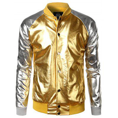 Raglan Sleeve Two Tone Metallic Lame Jacket