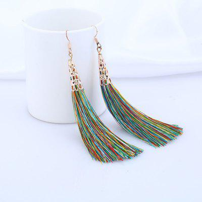 Vintage Tassel Fish Hook Drop Earrings