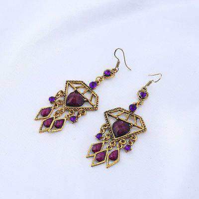 Rhinestone Heart Teardrop Chandelier Earrings