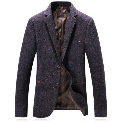 Revers Wolle Blend Single Breasted Edging Blazer