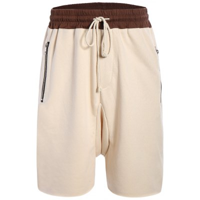 Zip Pockets Jogger Sweat Shorts