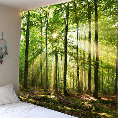 Buy GREEN Forest Sunlight Decorative Wall Hanging Tapestry for $22.12 in GearBest store