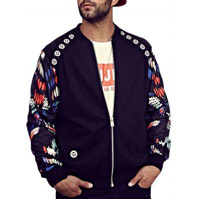 Zip Up Tiger Print Bomber Jacket