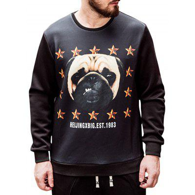 Dog Print Plus Size Sweatshirt