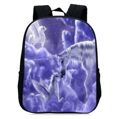 Buy PURPLE Unicorn Print School Backpack for $27.42 in GearBest store