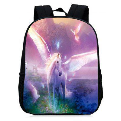 Buy PINKISH PURPLE Unicorn Print School Backpack for $27.42 in GearBest store