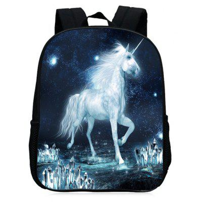 Buy WHITE Unicorn Print School Backpack for $27.42 in GearBest store