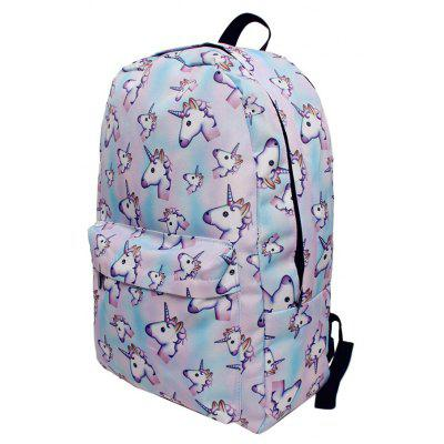 Unicorn Print BackpackUnicorn Print Backpack<br><br>Closure Type: Zipper<br>Gender: For Women<br>Handbag Size: Medium(30-50cm)<br>Handbag Type: Backpack<br>Main Material: Polyester<br>Occasion: Versatile<br>Package Contents: 1 x Backpack<br>Pattern Type: Character<br>Size(CM)(L*W*H): 29*14*42<br>Style: Casual<br>Weight: 0.4500kg