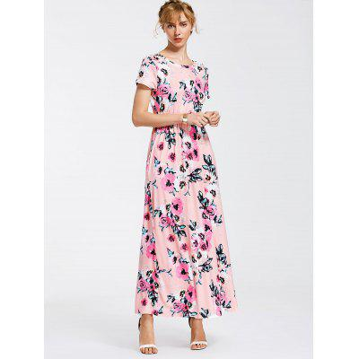 Floral Print Round Neck Maxi DressMaxi Dresses<br>Floral Print Round Neck Maxi Dress<br><br>Dresses Length: Ankle-Length<br>Material: Polyester<br>Neckline: Round Collar<br>Package Contents: 1 x Dress<br>Pattern Type: Floral<br>Season: Summer<br>Sleeve Length: Short Sleeves<br>Weight: 0.3700kg<br>With Belt: No