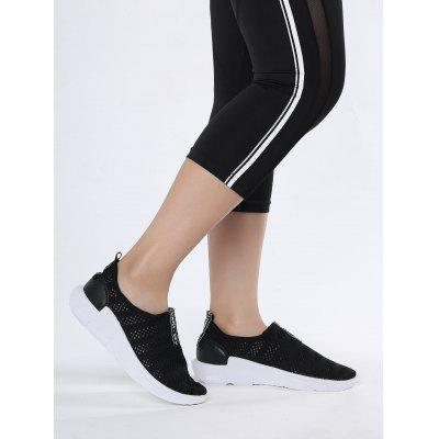 Mesh Letter Pattern Athletic Shoes