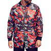 Veste grand format Zipper Pocket Camo - ROUGE