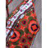 Tribal Print Floral Backless Swimsuit - COLORMIX