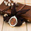 Oval Shape Cloth Bracelet Watch - BROWN